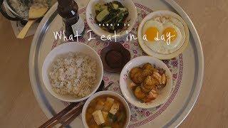 [SUB] VLOG #34 하루세끼, 쫄면과 열무비빔밥 : What I eat in a day, jjeol-myeon and bibimbap | Honeykki 꿀키