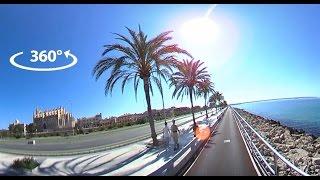 Palma - Portixol - Molinar - Can Pastilla bike path in 360°