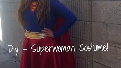 DIY - Superwoman Halloween Costume + Makeup!