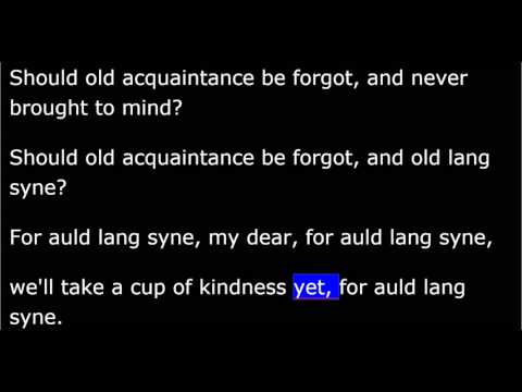 Auld Lang Syne -  Christmas-New Years Song