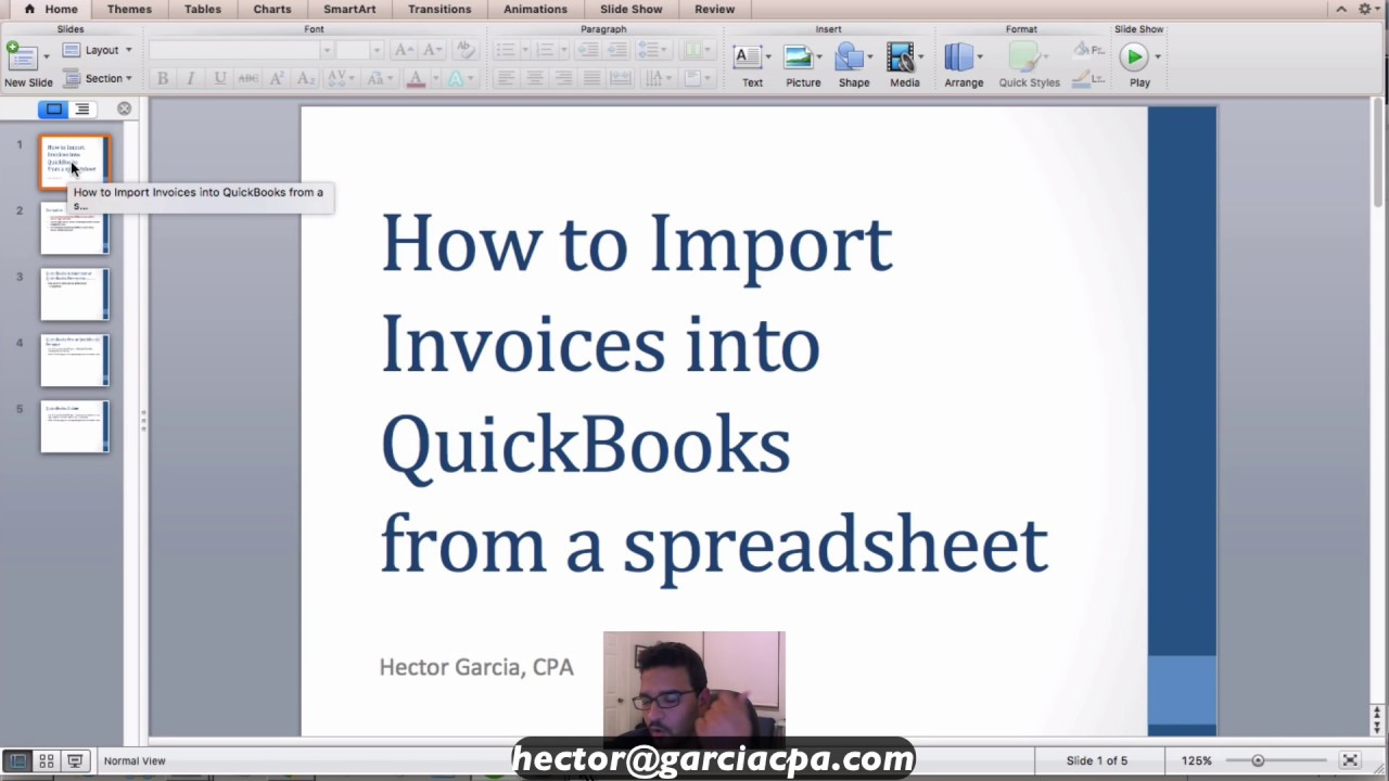 Importing Invoices into QuickBooks Desktop Accountant from Excel or any  spreadsheet