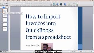 Importing Invoices into QuickBooks Accountant from Excel or any spreadsheet