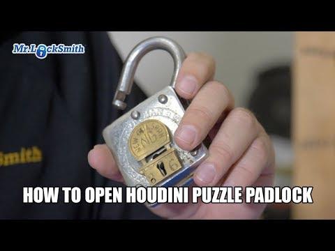 How to Open Houdini Puzzle Padlock | Mr. Locksmith