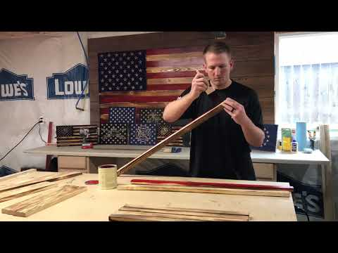 DIY - Rustic Wood American Flag - Start your own Flag Co. for under $100 - Step By Step, How To