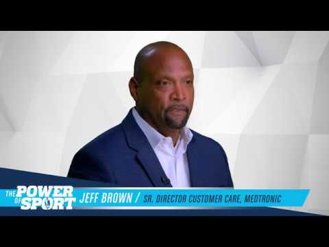 Medtronic exec & former MLB player Jeff Brown shares his #PowerofSport  story w/ San Antonio Sports