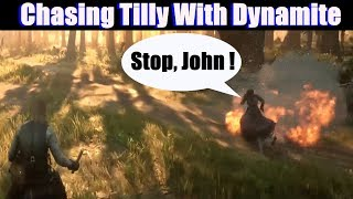 RDR2 Chasing Tilly With Dynamite - Red Dead Redemption 2 PS4 Pro