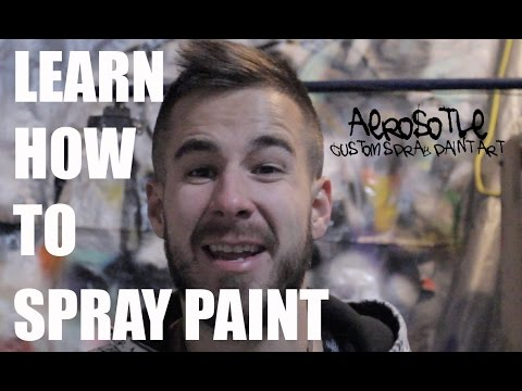 Spray Paint Art Tutorial for Beginners - Space Painting Tutorial Spray Paint - Spray Paint Planets