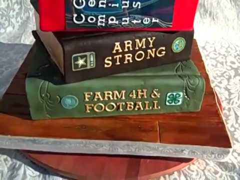 70th Birthday Stack Of Books Cake By Cakes Rock Youtube
