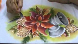 Pintura em Tecido Especial Natal Parte III – Flor Estrela de Natal