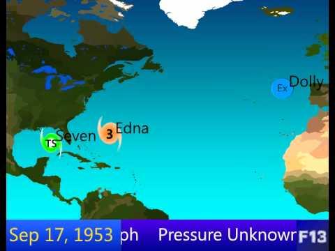 1953 Atlantic Hurricane Season Animation