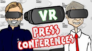 👓VR PRESS CONFERENCES👓(Top Eleven Parody with Klopp, Wenger, Costa and Pep)