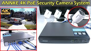 4K PoE Camera Security System  ANNKE H800 8 Ch NVR Record 24/7