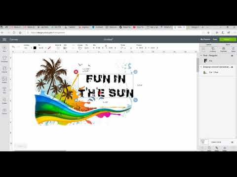 Design, Print And Transfer Images Using Cricut Design Space Software And SubliMate Dye Sub System