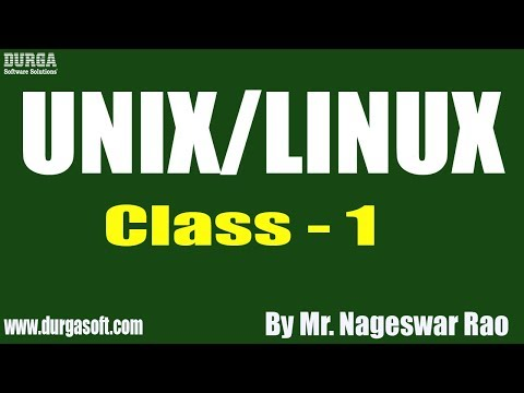 unix/linux-tutorial-||-class---1-||-by-mr.-nageswar-rao-on-19-08-2019