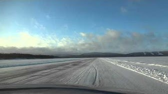Ice Road in Finland - North Karelia, Lake Pielinen / Koli jäätie