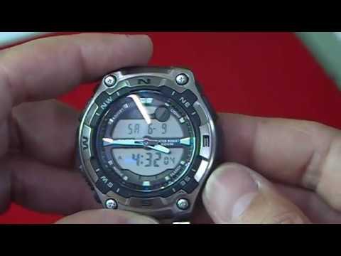 79d01f9c18a3 Poner en hora un reloj Casio digital analógico - YouTube