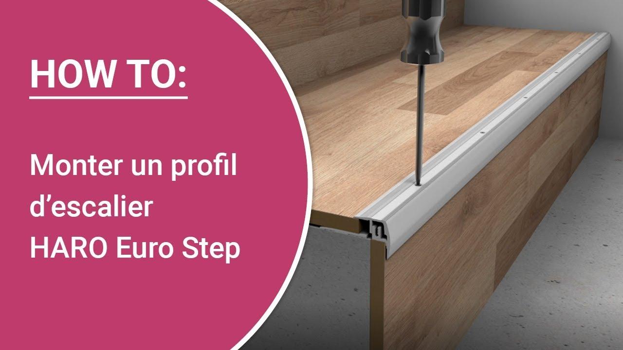 Recouvrir Un Escalier En Béton instructions : monter soi-même un profil d'escalier haro euro step type 320