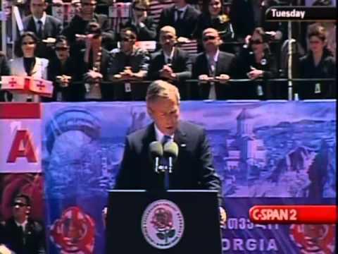 George W Bush visit to Tbilisi, Georgia