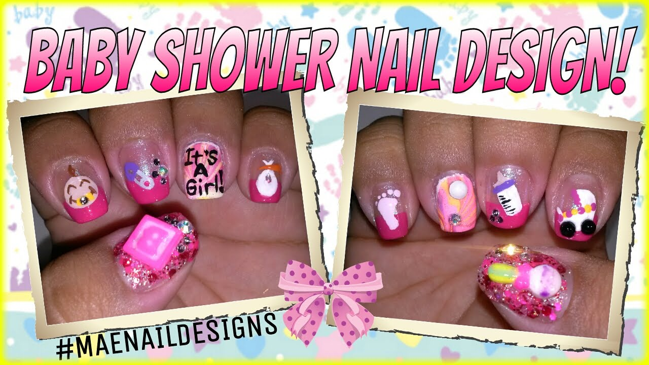 Baby Shower Nail Design Maenaildesigns Youtube