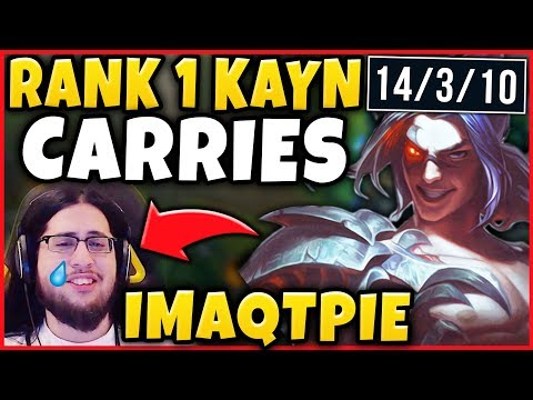 #1 KAYN WORLD CARRIES IMAQTPIE IN CHALLENGER RANKED! KAYN JUNGLE GAMEPLAY - League of Legends
