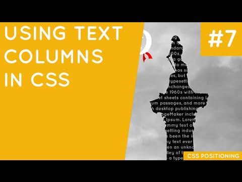 CSS Positioning Tutorial #7 - Text Columns