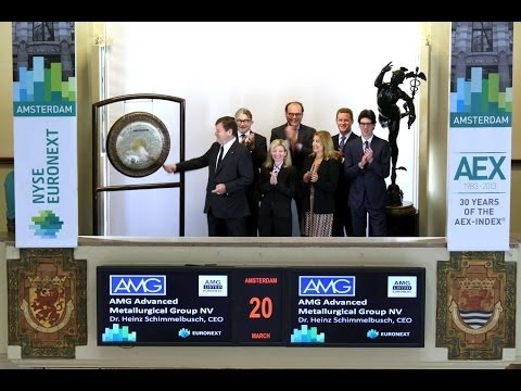 CEO of AMG Advanced Metallurgical Group NV visits Euronext Amsterdam
