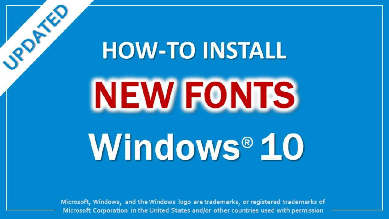 How to Install Fonts in Windows 10 (Updated)