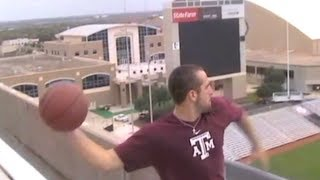 World's Longest Basketball Shot | 3rd DECK VIEW | Dude Perfect thumbnail