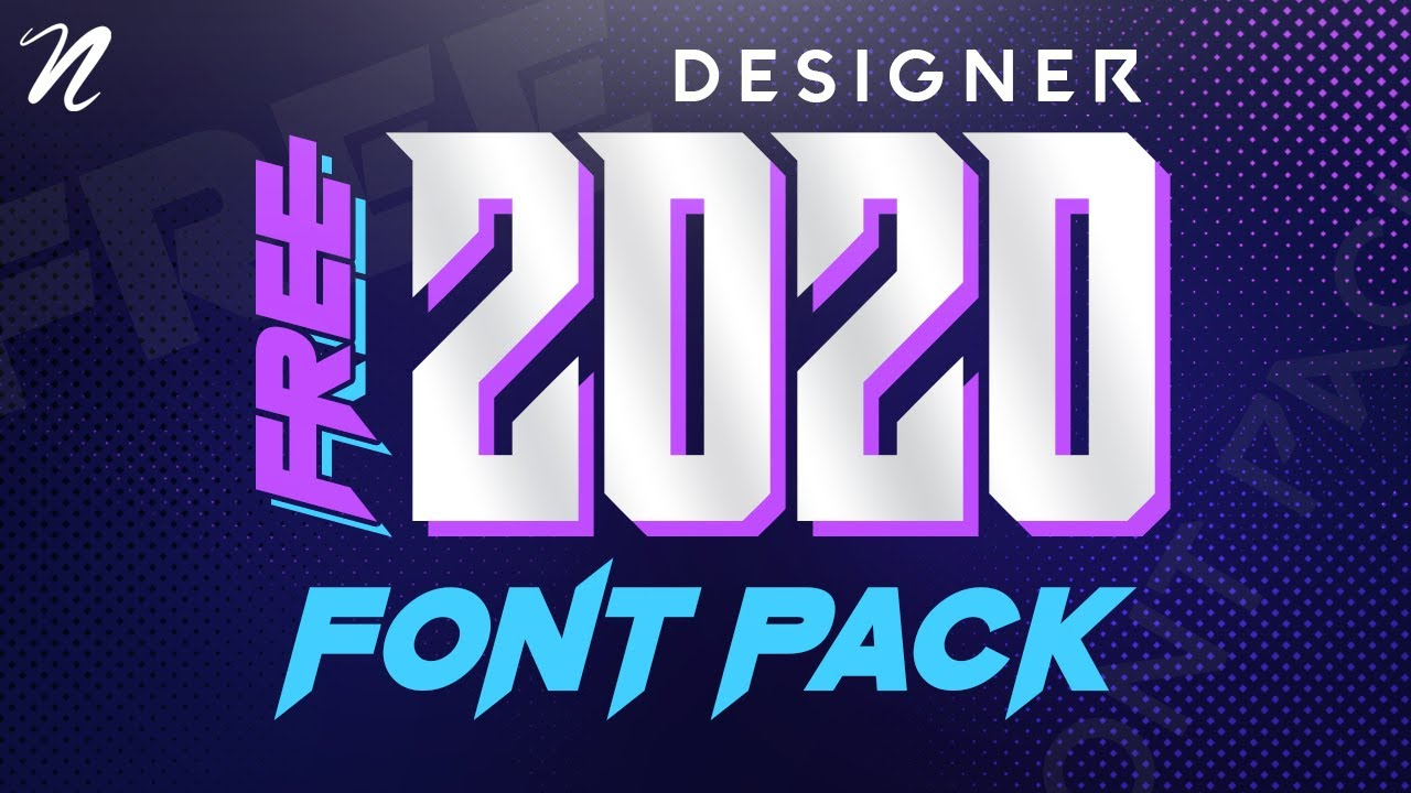 Download HUGE FREE FONT PACK FOR DESIGNERS 2020 by Qehzy - YouTube