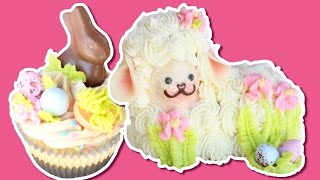 Easter Desserts 3D Lamb Cake &amp Chocolate Easter Bunny Cupcakes