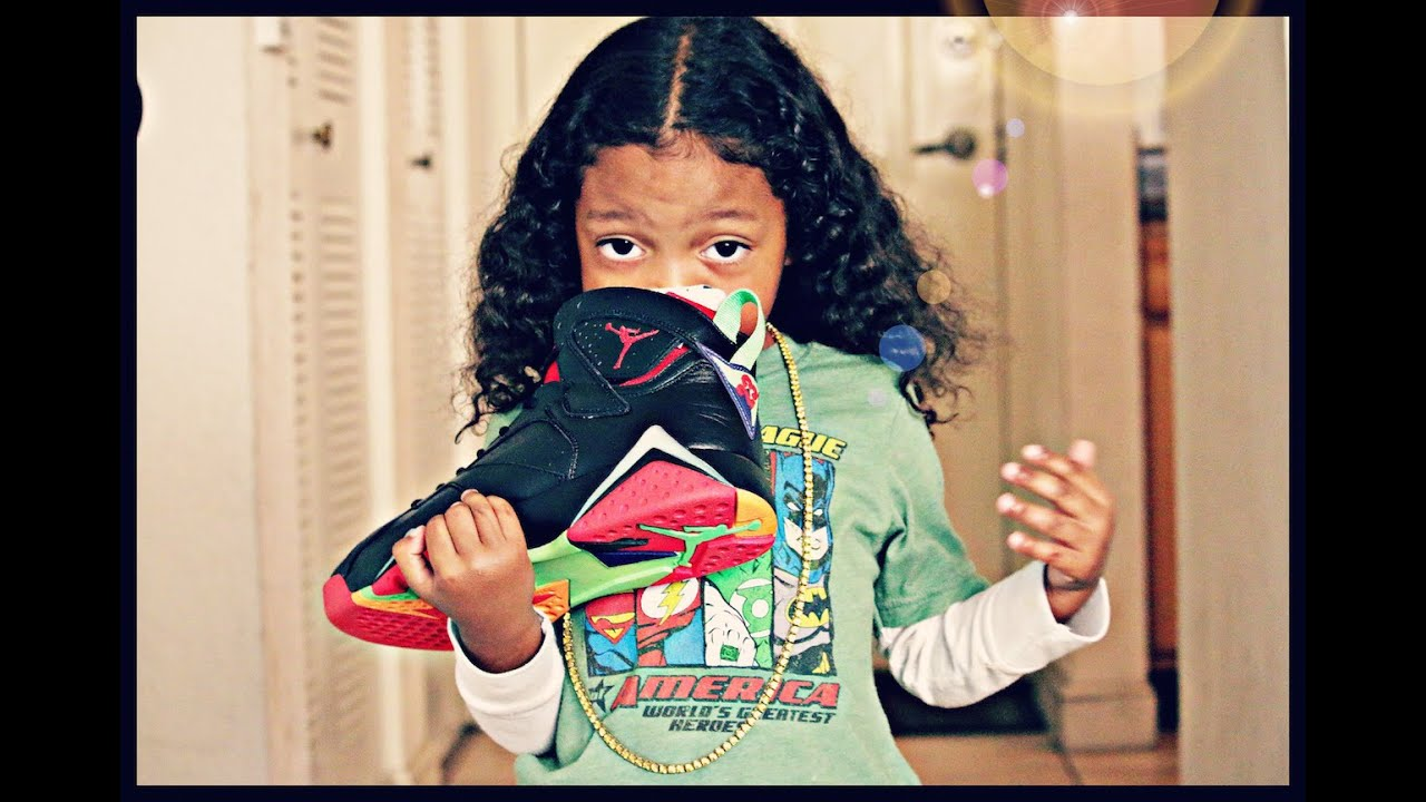 hot sale online 434ed be9aa MY 3 YEAR OLD UNBOXING: Air Jordan Retro 7