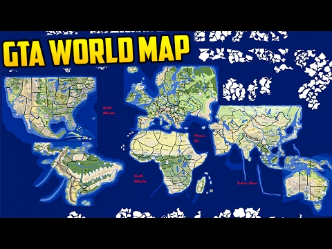 INSANE GTA WORLD MAP CONCEPT   THE ENTIRE WORLD IN GTA!   YouTube