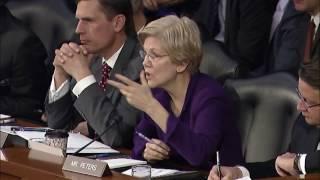 Senator Elizabeth Warren at Hearing on Civilian Control of the Armed Forces