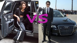 Nina dobrev cars vs Ian somehalder cars (2018)