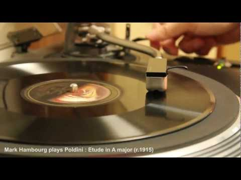 Mark Hambourg plays Poldioni : Etude in A major (r.1915) HMV AC recording