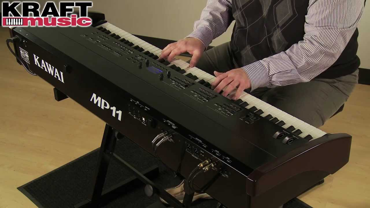 kraft music kawai mp11 digital stage piano demo youtube. Black Bedroom Furniture Sets. Home Design Ideas