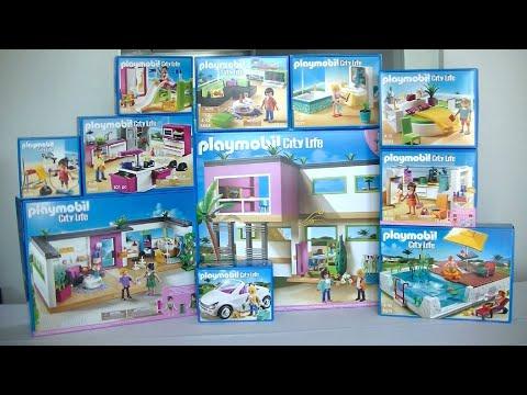 Unboxing Playmobil (fr) : La maison moderne (2014) - 5574, 5575 ...