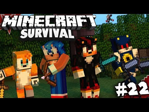 Sonic & Shadow Play Minecraft Part 22 - THE WITHER!! (Ft. Tails, Infinite & Metal)