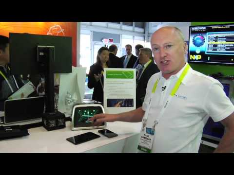 Senseg FeelScreen(TM) Spacial Haptics Technology Demo at CES 2015
