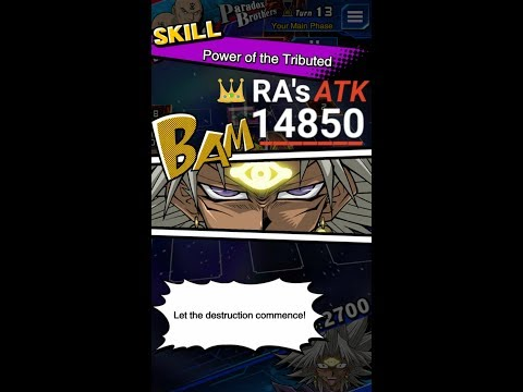 """Yugioh Duel Links - RA's ATK become 14850 with """"Power of The Tributed"""""""