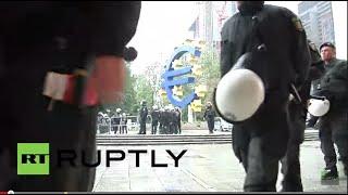 Live: Blockupy-Protest in Frankfurt rund um den Neubau der EZB