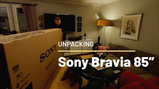 "Unpacking Sony Bravia 85"" TV"