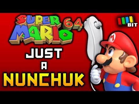 Beating Super Mario 64 Using Only a NUNCHUK [TetraBitGaming]
