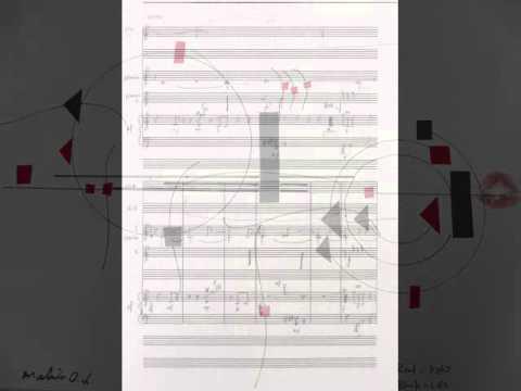 偶然を使って音楽を作ってみたら?ワークショップより図形楽譜作品(大石真理子さん)