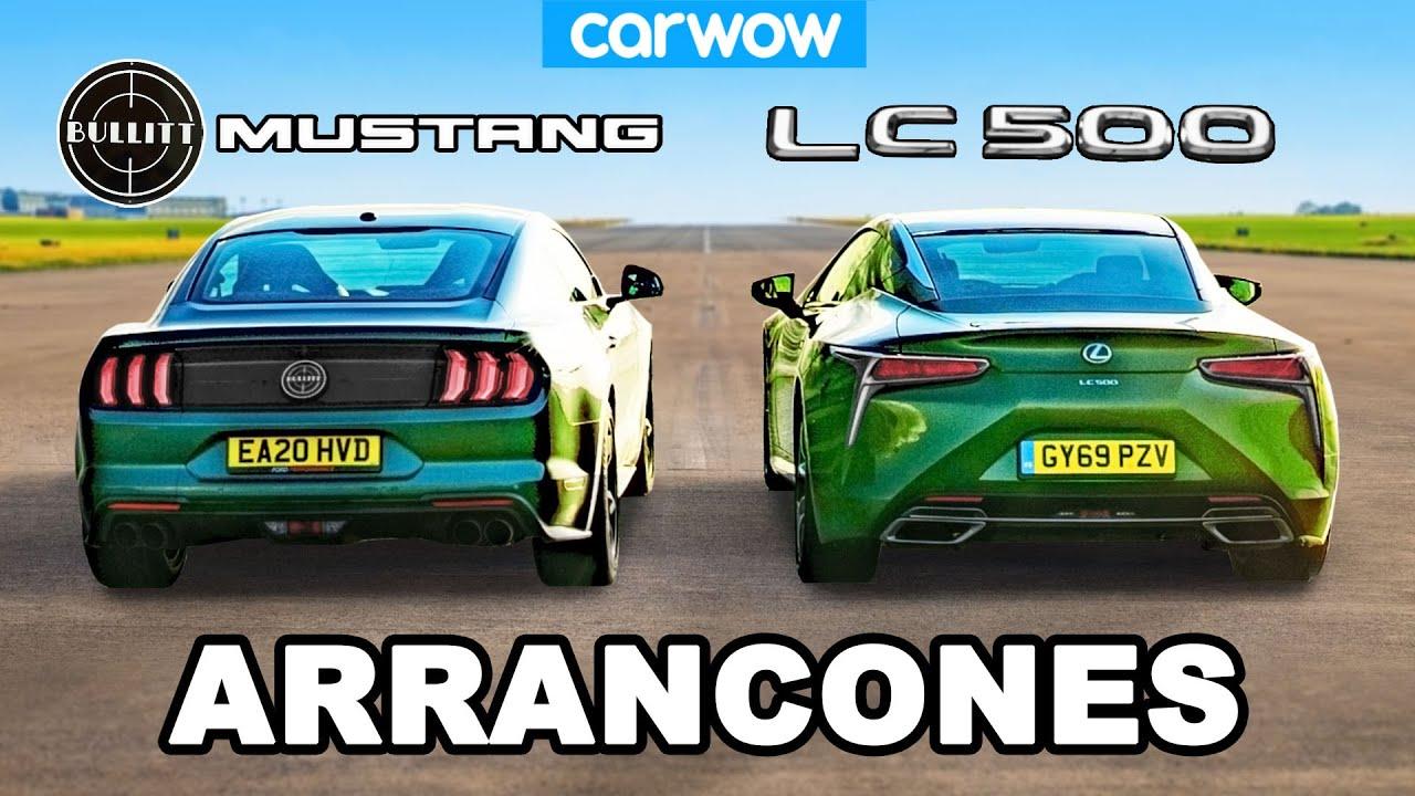Ford Mustang v Lexus LC500 - ARRANCONES V8