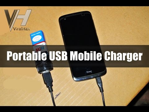 How to Make a Portable USB Mobile Charger using 9V Battery