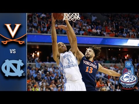 Virginia vs. North Carolina 2016 ACC Basketball Championship Game Highlights