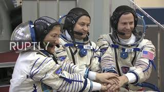 Russia: ISS Expedition 59-60 crew undergoes pre-flight training in Star City
