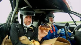 BURGER CHALLENGE- Build a burger whilst driving around in a rally car