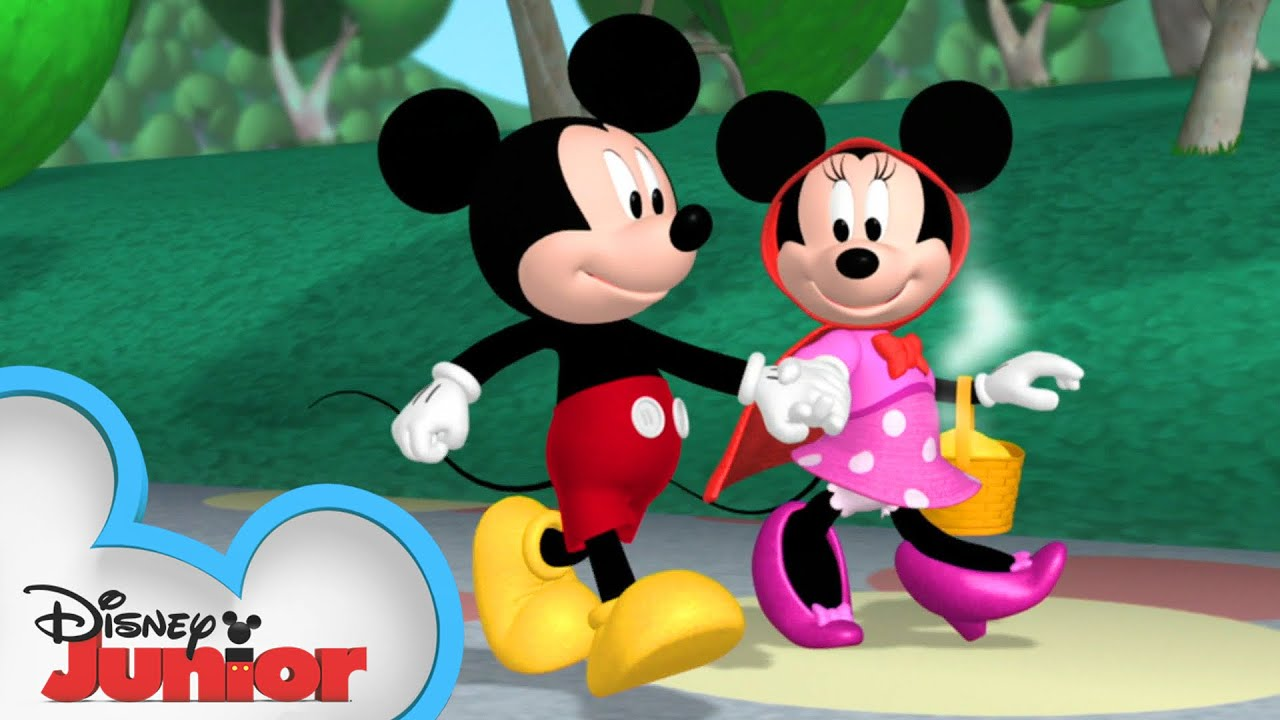 Minnie Is Red Riding Hood Mickey Mornings Mickey Mouse Clubhouse Disney Junior Youtube